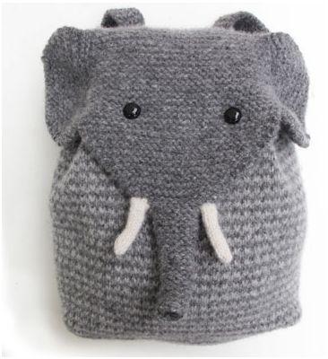 Elefanten Rucksack stricken Mehr