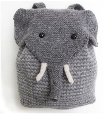 Elefanten Rucksack stricken - Knitted Elephant Backpack :)