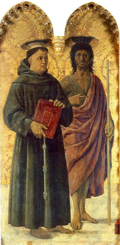027-Пала Сант-Антонио (свв. Антоний Падуанский и Иоанн Креститель).jpg Пьеро делла Франческа