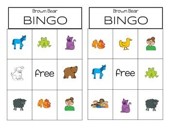 This bingo game is great for your Brown Bear Unit. A fun way for your students to practice their colors. I always end my Brown Bear unit by playing this game. Includes 10 different cards.