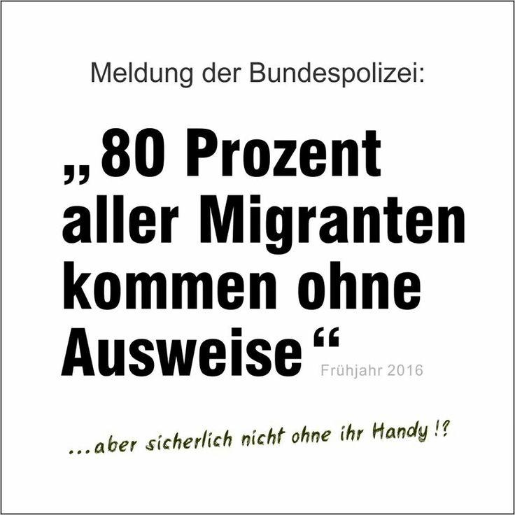 80% aller Migranten kommen ohne Ausweise!