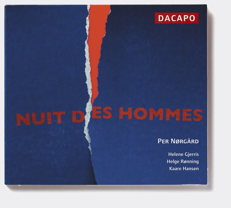 Per Nørgård 'Nuit des Hommes' (Dacapo Records). Album cover art: Denise Burt. Read the story about how the cover artwork was designed on http://seeingnewmusic.com/story/nuit-des-hommes/?cat=original&offset=2 #albumart  #artmusic  #contemporaryclassical