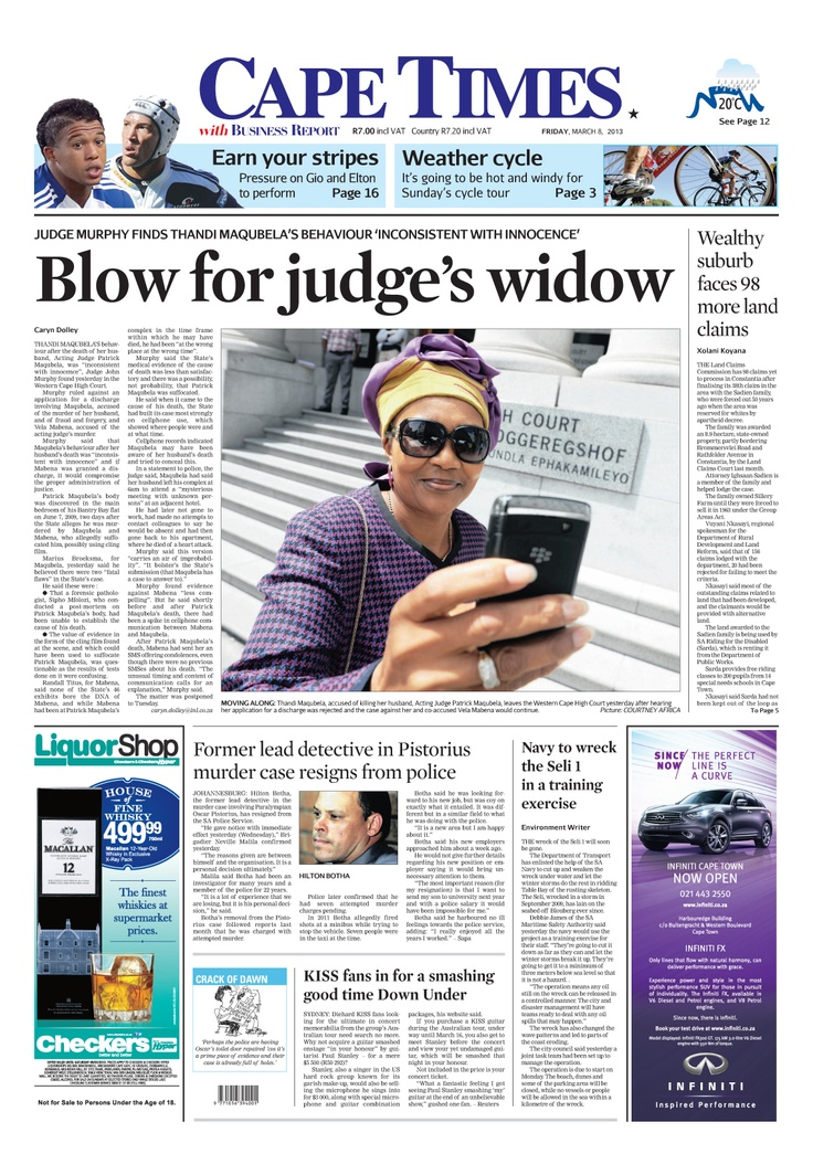 News making headlines: Former detective in #OscarPistorius murder case resigns from police.