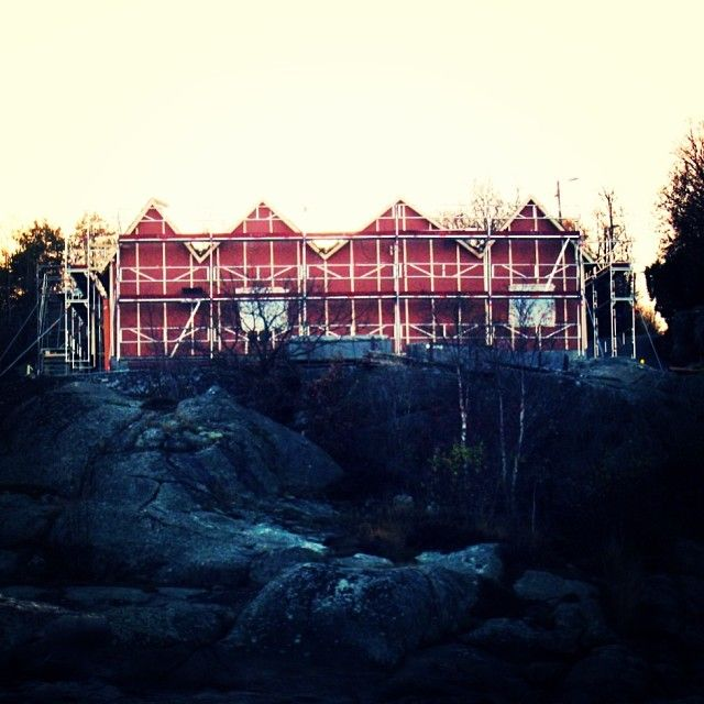Asperö pumpstation, under construction! #tplusearkitekter #architecture #göteborgkretsloppochvatten#asperö