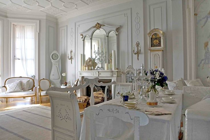 traditional design, clothed in white. #swedish #scandinavia