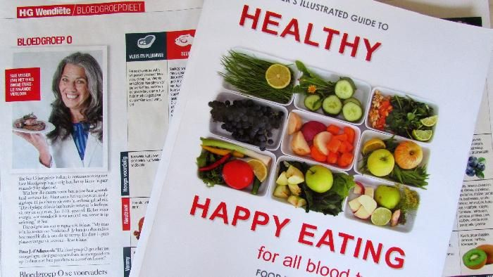 Book by sue Visser: HEALTHY HAPPY EATING for all blood types. www.naturefresh.co.za for details
