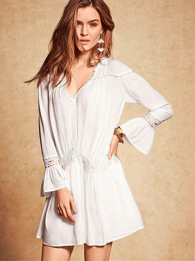 Embroidered Bell-sleeve Dress - Victoria's Secret