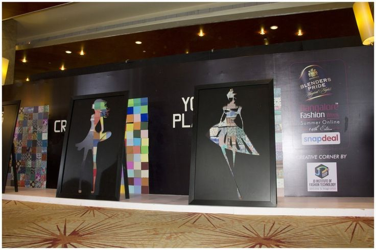 Trend Play: An interactive installation by JD Institute Bangalore at Bangalore Fashion Week S/S  2016