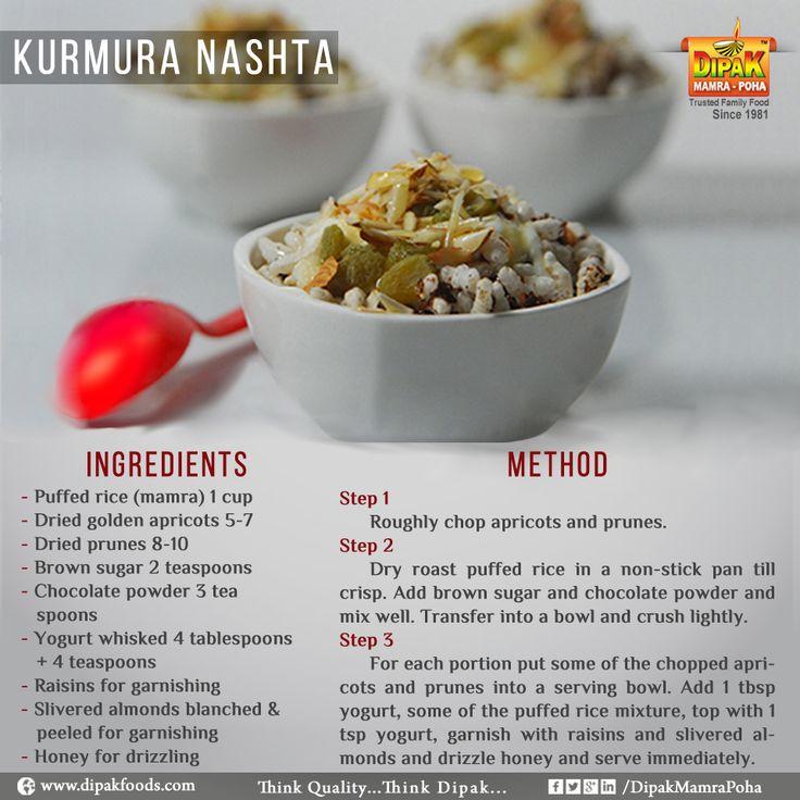 #Tasty - #Healthy - #Hygienic  Kurmura Nashta - Recipe  #kurmura #Mamra #PuffedRice #Nasta #TastyFood #HealthyFood #HygienicFood #Recipe