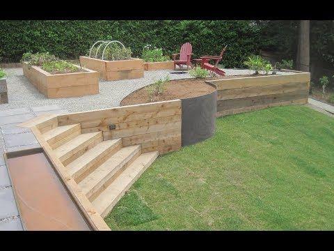 🔴 Ideen für Garten und Hinterhof: Holzstützma…