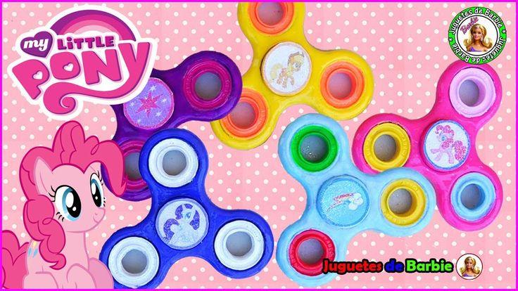 Juguetes Fidget Spinners DIY pintados de personajes de My Little Pony Ra...