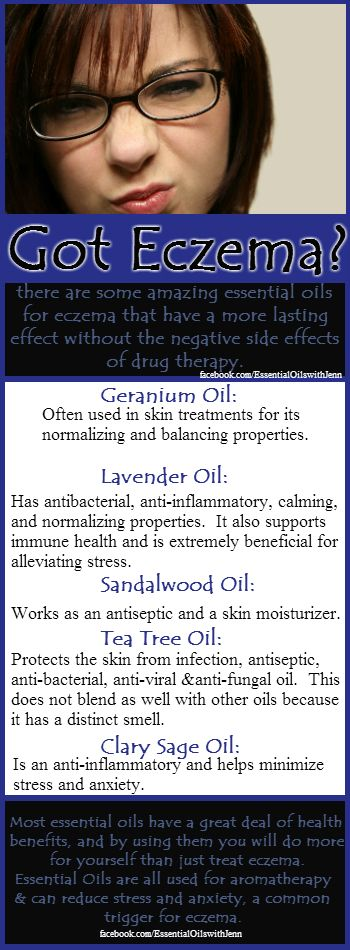 I have seen essential oils work on Eczema when nothing else will..