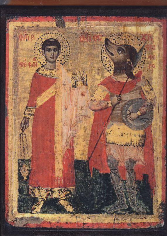Saint-Stephen and Saint-Christopher17th century iconUnknown