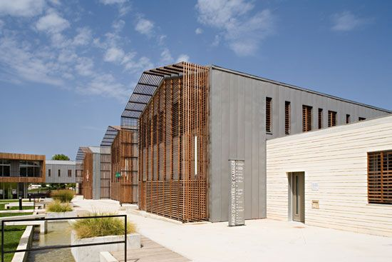 N   B architects: community center for the valley of herault, gignac, france - designboom | architecture