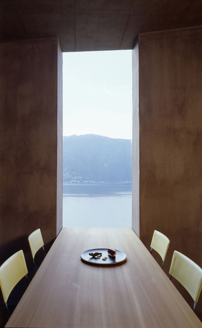 Framing the view. House in Scaiano by Swiss architects Wespi de Meuron.
