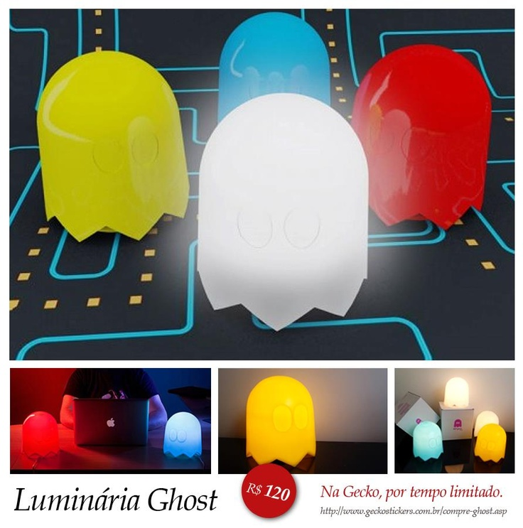 Luminária Ghost.: Pacman Ghosts, Games Rooms, Pacman Lights, Home Accessories, String Lights, Pac Men, 80S Parties, Ghosts Lamps, Parties Lights