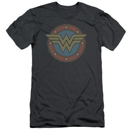 DC Comics Wonder Woman Vintage Emblem Mens Slim Fit Shirt