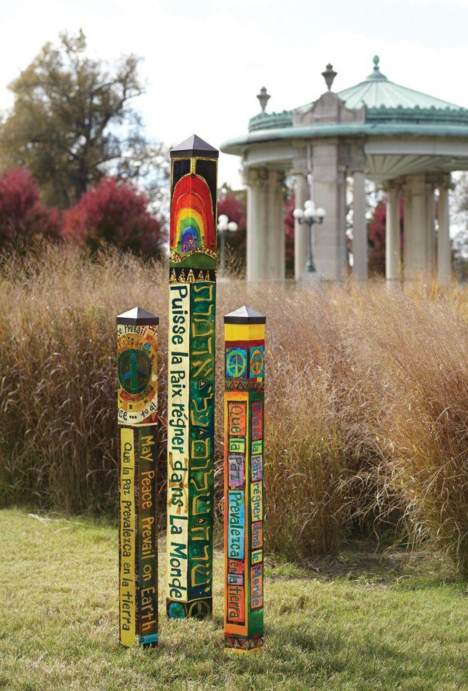131 best images about talking sticks garden totemsspirit for Garden art pole