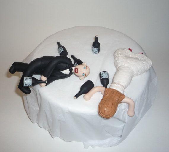 Custom Drunk Wedding Cake Topper on Etsy, $155.00