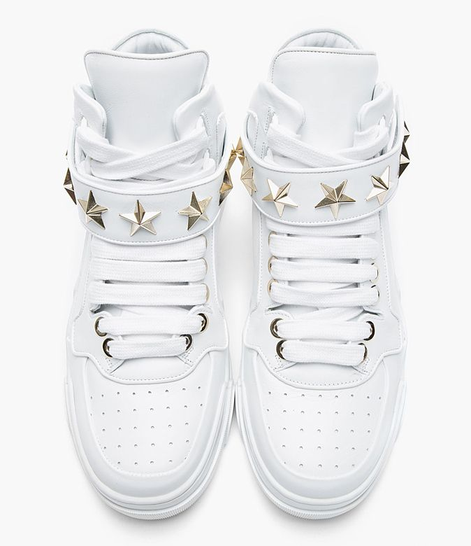 Givenchy White Leather Star-Detail Sneaker  Creative Boys Club » Givenchy www.creativeboysclub.com/tags/givenchy