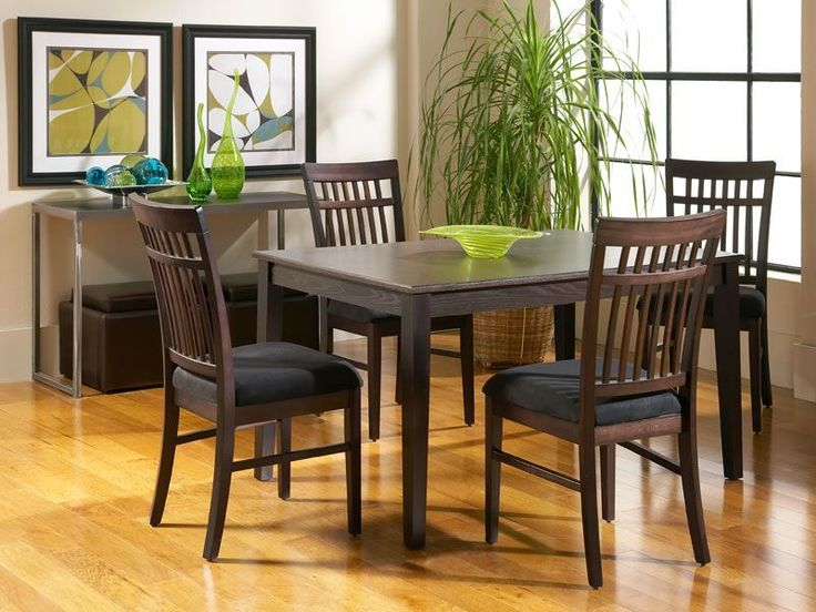 The Dakota Skyline Rectangular Dining Room Offers Clean Lines And A Pleasing Chair Design Dark Wood Of This Set Pairs Great With Charcoal
