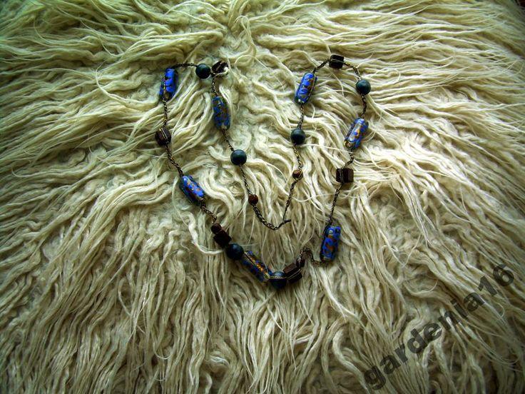 Naszyjnik ręcznie robiony na szydełku