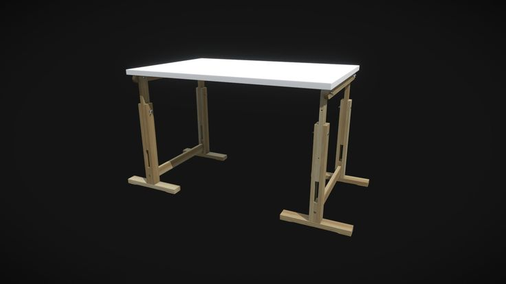 Desk. Modeled in Maya, textured in Substance Painter