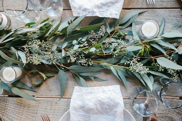 Tuscan-Inspired Centerpiece - For Modern Brides: 25 Fabulous Wedding Centerpieces Without Flowers - EverAfterGuide