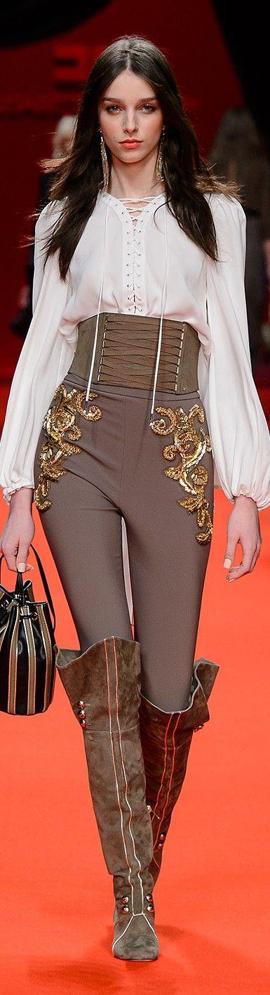 Elisabetta Franchi FW 2016/17 women fashion outfit clothing style apparel @roressclothes closet ideas