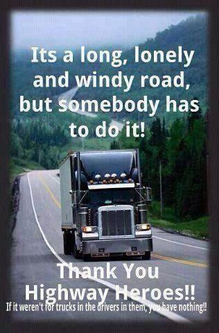 LIKE Progressive Truck Driving School: http://www.facebook.com/cdltruck #trucking #truck #driver   Truckers are Highway Heroes
