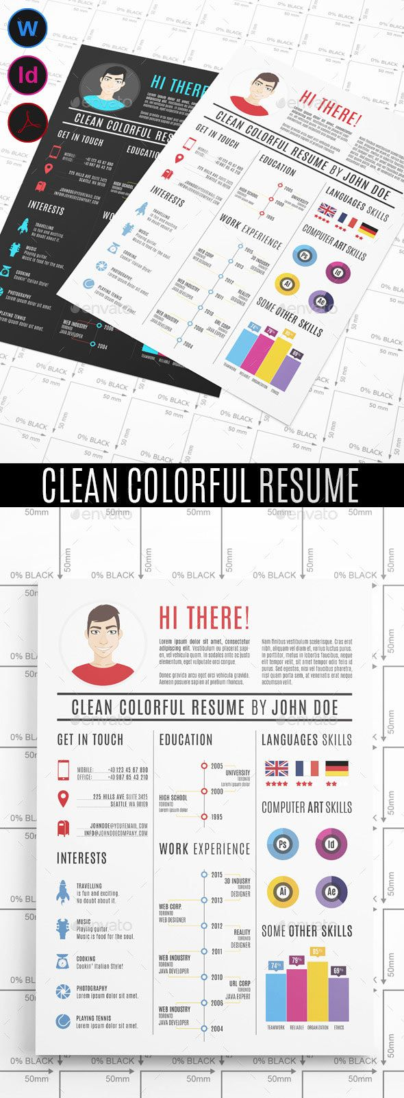 1212 best images about infographic visual resumes on pinterest