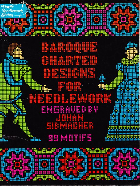 Vintage 1975 Baroque Needlepoint Pattern Book by SewSadieBess