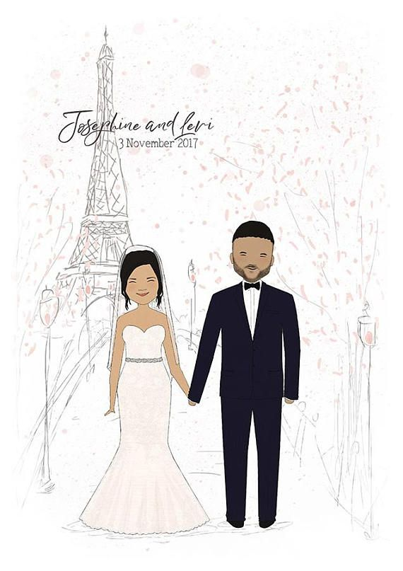 Custom Wedding Portrait-Cartoon Wedding Portrait-Custom