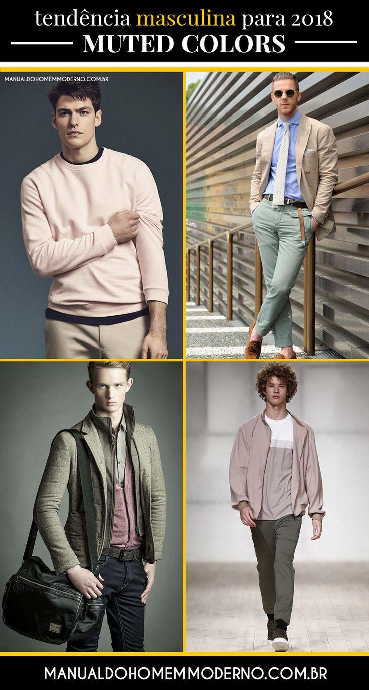 As muted colors prometem se destacar na moda masculina em 2018.