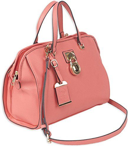 Bulldogs Satchel style concealed carry purse with holster in Coral is an attractive modern design and is designed for either left or right handed use. The Universal fit color Matched holster included ...