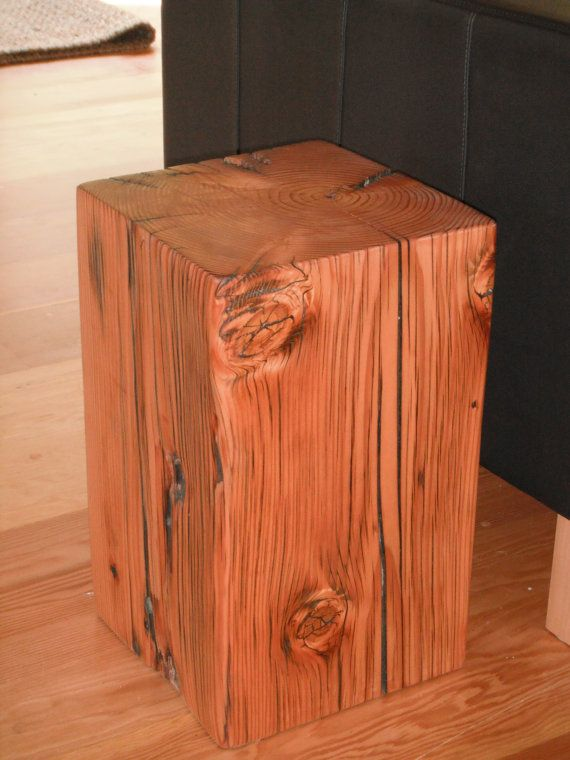 Old Growth Wood Pedestals Stool End Table Coffee Table