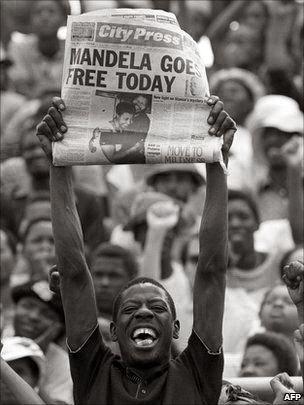 Mandela goes free today!!