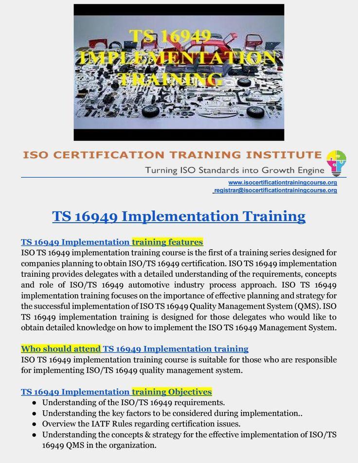 iso ts 16949 training pdf