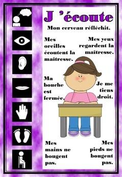 Affiche pour apprendre à être attentif - Fiches de préparations pour la classe