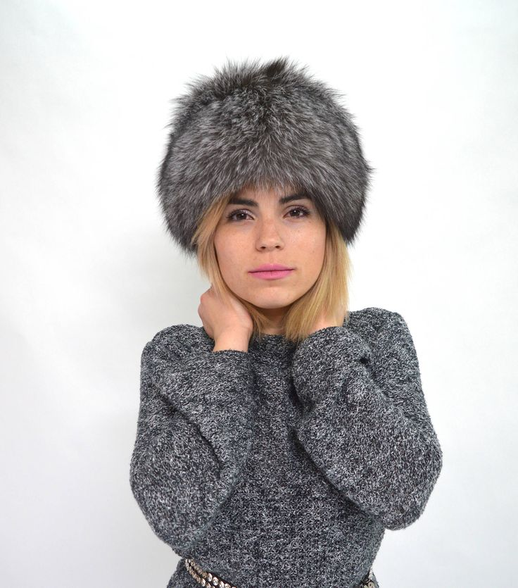 Excited to share the latest addition to my #etsy shop: Real fur hat, silver fox Russian style fur hat, winter fur cap, grey fur hat, adult's fur hat, head fur warmer, super fluffy hat, fur pelt. #realfurhat #winterfurhat #headfurwarmer #silverfoxfurhat #womenfoxfurhat #earfoxfurwarmers