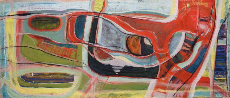 Jennifer Sulaj - Inner child 130cm x 50cm OIls on Canvas $1250