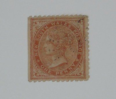 Stamp Pickers New South Wales 1862 Queen Victoria 1p Scott #45 FU $200