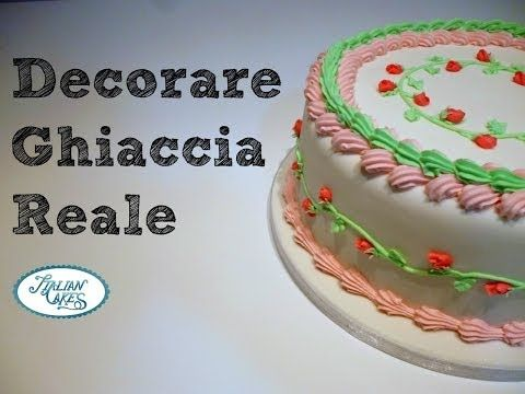 Ghiaccia reale: decorare una torta by ItalianCakes - YouTube