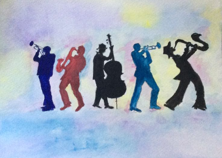 Jazz Silhouette Watercolor