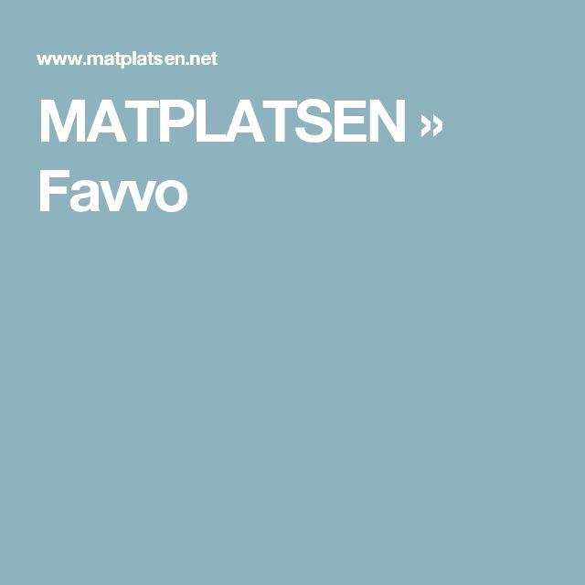 MATPLATSEN » Favvo