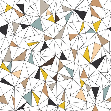 Triangles fabric by kimsa on Spoonflower - custom fabric