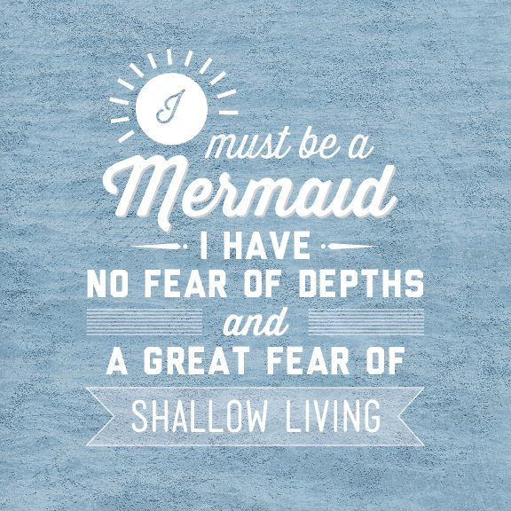 How to be a Mermaid…