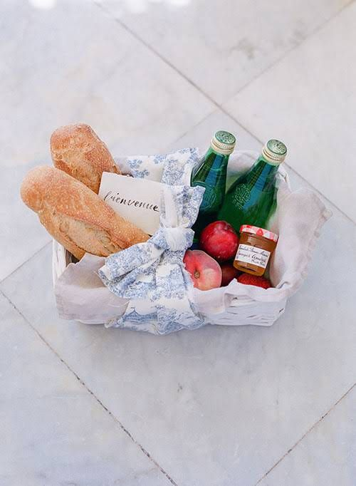 Romantic Multi-Day French Chateau Wedding, Welcome Baskets