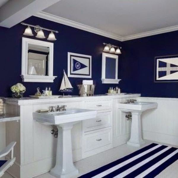 Blue Bathroom Ideas Gratifying You Who Love Blue Color: 41 Best Nautical/Beach Bathroom And Decor Images On Pinterest