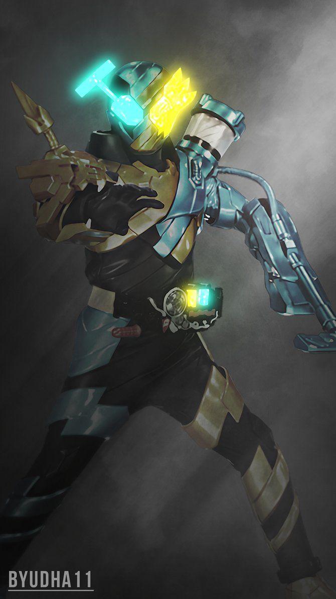 Kamen Rider Build : Lion Cleaner Wallpaper by Byudha11
